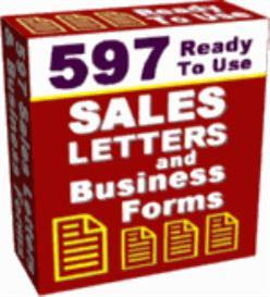 597 Ready To Use Sales Letters and Business Forms (RR) | eBooks | Business and Money