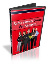 sales funnel setup for newbies with resale rights