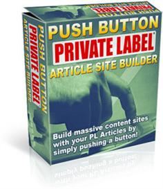 push button private labels article site builder (resale rights include