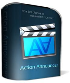 action announcer with private label rights