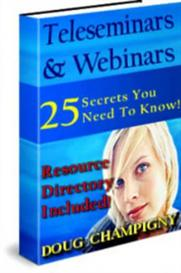 Teleseminars And Webinars With Master Resale Rights | eBooks | Business and Money