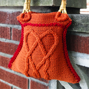 hearty handbag knitting pattern