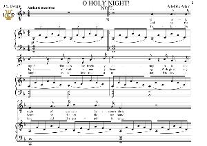 O Holy Night (Noël) Low Voice in F Major (Countertenor, Contralto). English Modern Version. A. Adam, J.S. Dwight. Digital score. A5 (landscape).Tablet Sheet Music Download. | eBooks | Sheet Music
