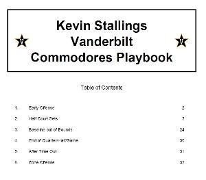 kevin stallings vanderbilt commodores playbook