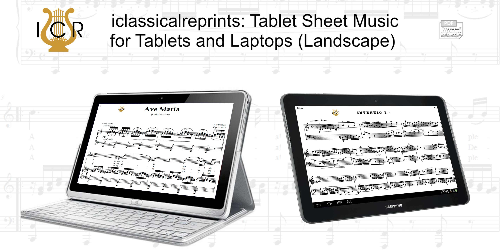 Second Additional product image for - Ave Maria, D. 839  in C Major (High Soprano/Tenor). Latin Version. F.Schubert. Digital score after Peters Friedlaender Edition (PD).  A5 (landscape).Tablet Sheet Music Download.