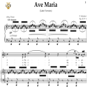 Ave Maria, D. 839  in C Major (High Soprano/Tenor). Latin Version. F.Schubert. Digital score after Peters Friedlaender Edition (PD).  A5 (landscape).Tablet Sheet Music Download. | eBooks | Sheet Music