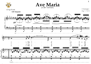 ave maria, d. 839 in a-flat major (soprano/mezzo/baritone). latin version. f.schubert. digital score after peters friedlaender edition (pd).  a5 (landscape).tablet sheet music download.
