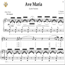 Ave Maria, D. 839 in G Major (Mezzo/Baritone). Latin Version. F.Schubert. Digital score after Peters Friedlaender Edition (PD).  A5 (landscape).Tablet Sheet Music Download.   eBooks   Sheet Music