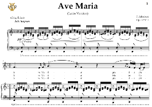 ave maria, d. 839 in f major (contralto/countertenor). latin version. f.schubert. digital score after peters friedlaender edition (pd).  a5 (landscape).tablet sheet music download.