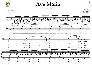 ave maria, d. 839 in f major (bass). latin version. f.schubert. digital score after peters friedlaender edition (pd).  a5 (landscape).tablet sheet music download.