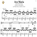Ave Maria, D. 839 in C Major (High Soprano/Tenor). In German. F.Schubert. Digital score after Peters Friedlaender Edition (PD).  A5 (landscape).Tablet Sheet Music Download. | eBooks | Sheet Music