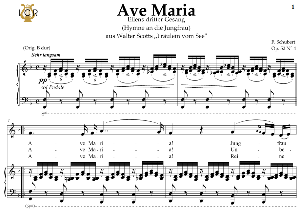 ave maria, d. 839 in f major (contralto/countertenor). in german. f.schubert. digital score after peters friedlaender edition (pd).  a5 (landscape).tablet sheet music download.