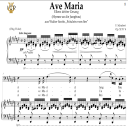 Ave Maria, D. 839 in F-Sharp Major (Bass). In German. F.Schubert. Digital score after Peters Friedlaender Edition (PD).  A5 (landscape).Tablet Sheet Music Download.   eBooks   Sheet Music