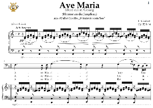 ave maria, d. 839 in f major (bass). in german. f.schubert. digital score after peters friedlaender edition (pd).  a5 (landscape).tablet sheet music download.