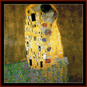 The Kiss Postersize - Klimt cross stitch pattern by Cross Stitch Collectibles | Crafting | Cross-Stitch | Other