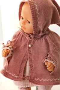 dollknittingpatterns 0138d alicia - tunica, cape, leggings, skaut og sko-(norsk)