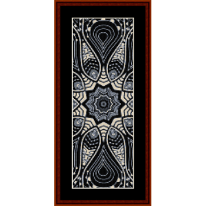 fractal 529 bookmark cross stitch pattern by cross stitch collectibles