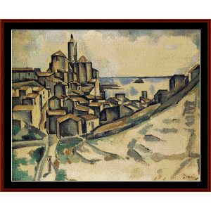 landscape at cadaques - derain cross stitch pattern by cross stitch collectibles