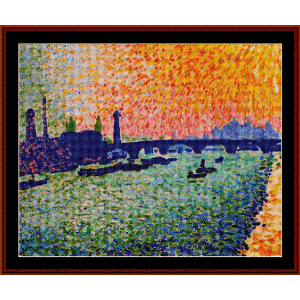 View on the River, 1905 - Derain cross stitch pattern by Cross Stitch Collectibles | Crafting | Cross-Stitch | Wall Hangings