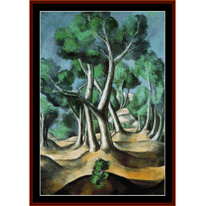 the grove, 1912 - derain cross stitch pattern by cross stitch collectibles