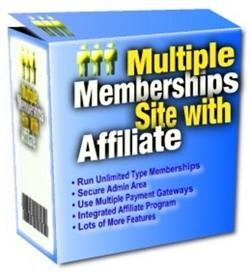 multiple membership site with affiliates with master resale rights