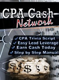 cpa cash network script and ebook  (mrr)