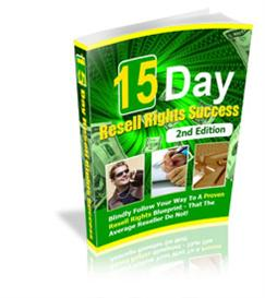 15 Day Resell Rights Success 2nd Edition With MRR | eBooks | Business and Money