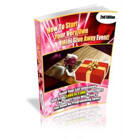 How To Start Your Mini Give Away Event With MRR | eBooks | Business and Money