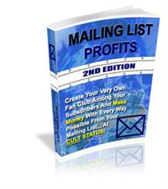 mailing list profits ! master resale rights included.