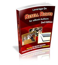 new* leverage on resell rights or e-book authors - 2nd edition (mrr)