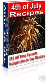4th of july recipes -with master resale rights