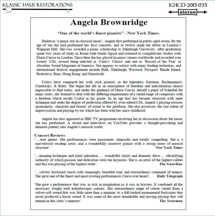 Second Additional product image for - Charles Camilleri: Malta Suite/Andante Religioso/Piano Concerto No. 1 - RPO/Camilleri/Angela Brownridge