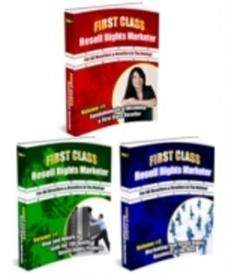 first class resell rights marketer volume #1 , #2, #3,- with master re