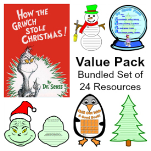 value pack:  how the grinch stole christmas & 23 more winter resource sets