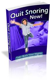 Quit Snoring Now - Take Back Your Nights With Master Resale Rights | eBooks | Health