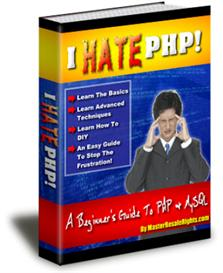 hate php a beginners guide to php& mysql (mrr)