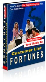 build your customer mailing list fortunes (mrr)