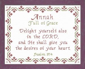 name blessings -  annah