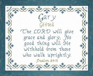 name blessings -  gary