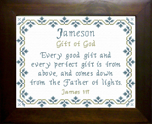 Name Blessings -  Jameson | Crafting | Cross-Stitch | Other