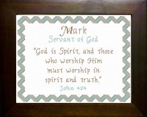 name blessings -  mark