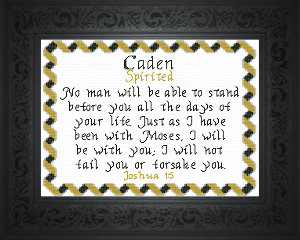 Name Blessings -  Caden 2 | Crafting | Cross-Stitch | Religious