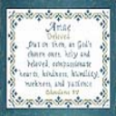 Name Blessings - Amae | Crafting | Cross-Stitch | Religious