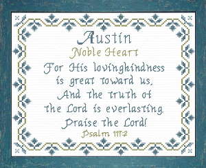 Name Blessings -  Austin | Crafting | Cross-Stitch | Religious