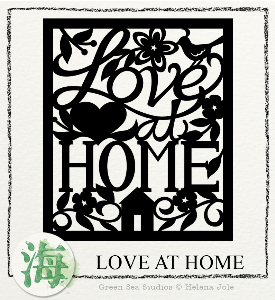 love at home papercut svg