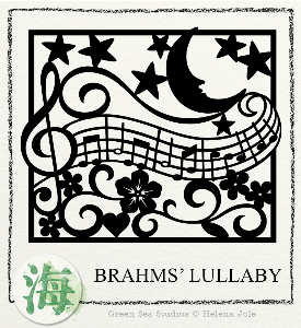 brahms' lullaby papercut svg