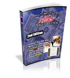 How To Write killer Sales Letter 2nd Edition With Master Resale Rights | eBooks | Internet