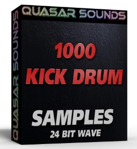 1000 kick drums  24 bit wave samples