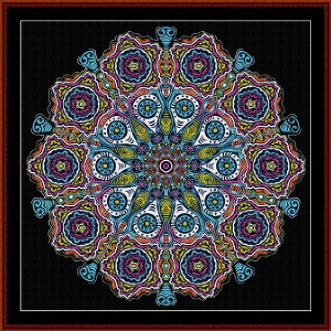 Fractal 538 cross stitch pattern by Cross Stitch Collectibles | Crafting | Cross-Stitch | Wall Hangings