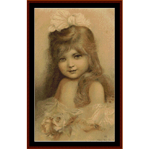 Young Girl - Vintage Poster cross stitch pattern by Cross Stitch Collectibles   Crafting   Cross-Stitch   Wall Hangings